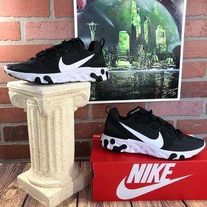 New Nike react element 55 black/white BQ6166 003